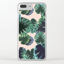 Monstera t(w)oo Clear iPhone Case