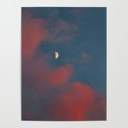 Cloud Bleeding Mars for Moon Poster