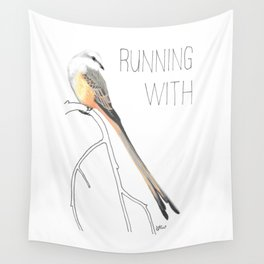 Running With Scissors (Scissor-tailed Flycatcer) Wall Tapestry