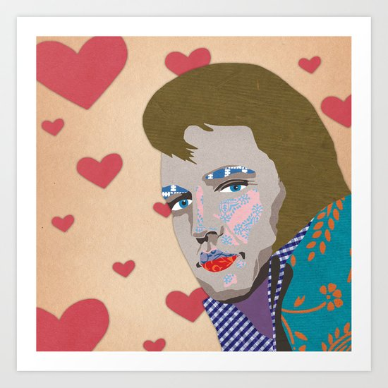 love the king Art Print