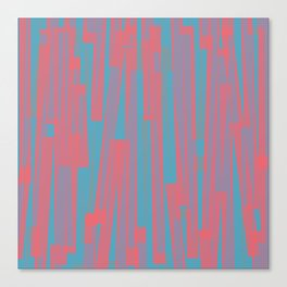 Geometric Blue Pink Painting Canvas Print