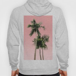 Palm Trees on Pink Wall Hoody