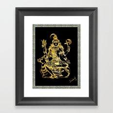 SHIVA - Hindu God of Destruction Framed Art Print