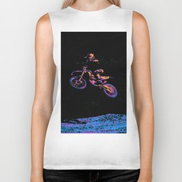 AIR TIME - Motocross Sports Art Biker Tank