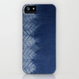 Shibori Chevron Stripe iPhone Case