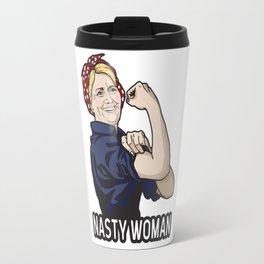 Nasty Woman Hillary Clinton WW2 Riveter T-Shirt Travel Mug