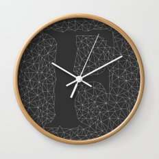 Light Letter F Wall Clock