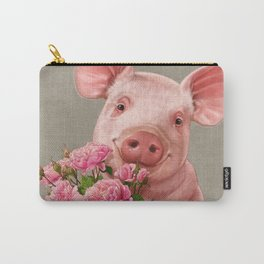 Pig In Love - with Peony Carry-All Pouch