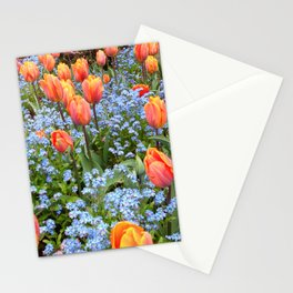 Tulips and Forget Me Nots Stationery Cards