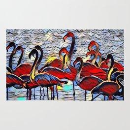 Color Kick Flamingos Rug