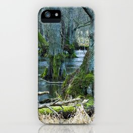 Trees in Frosen Water iPhone Case
