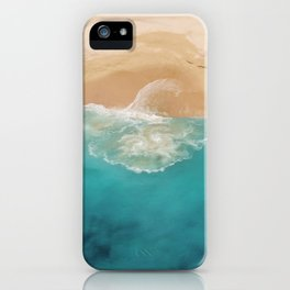 Ocean & Beach Aerial View iPhone Case