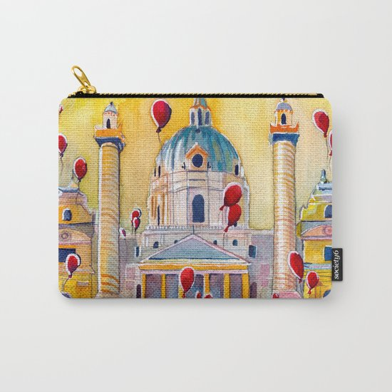 Vienna, famous Karlskirche saint Charles Church Carry-All Pouch