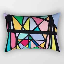 Stain Glass I Rectangular Pillow