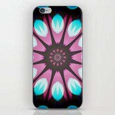 Turquoise  flower mandala iPhone & iPod Skin