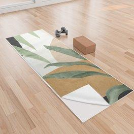 Abstract Art Tropical Leaves 4 Yoga Towel