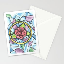 Rose Colored Glass Stationery Cards