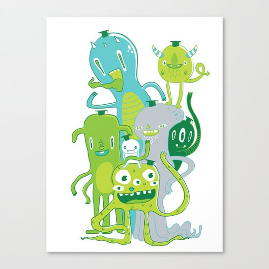 Done with Monster School! Canvas Print