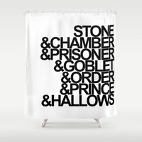 potter Shower Curtains featuring Harry Potter Ampersand by alison