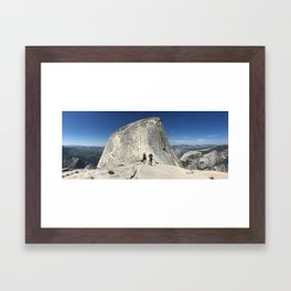 Half dome cables Framed Art Print