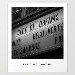 PARIS MON AMOUR Art Print
