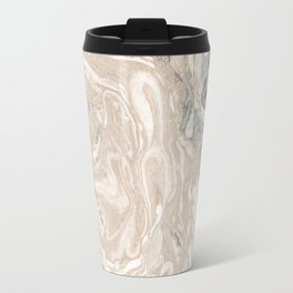 Real Marbled Paper Pattern III. Travel Mug