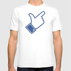 Likeable Mens Fitted Tee SMALL White