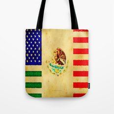 MEXICAN AMERICAN FLAG - 017 Tote Bag