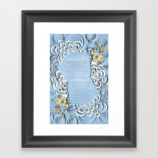 Stanzas for Music — Lord Byron (George Gordon)  Framed Art Print