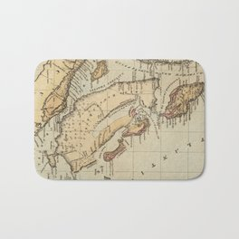 Vintage Map of The Bahamas (1823) Bath Mat