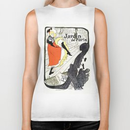 Jane Avril French can-can Jardin de Paris Biker Tank