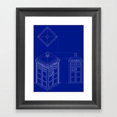 Tardis -Dark Framed Art Print