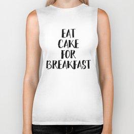 Eat Cake For Breakfast Biker Tank