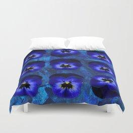 Deep Blue Velvet Duvet Cover