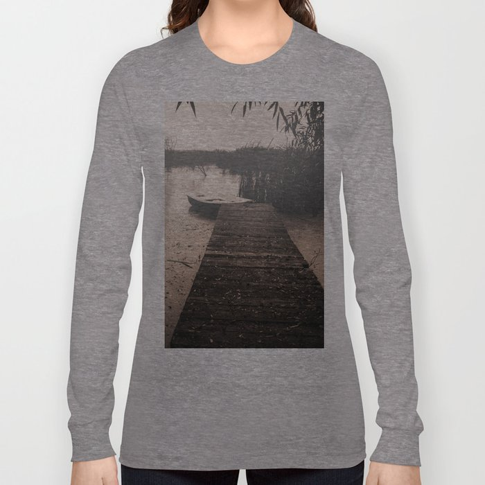 The fall  The Lake  The boat The drama Long Sleeve T-shirt