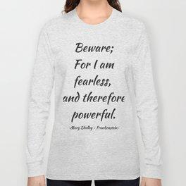 Frankenstein - Mary Shelley Long Sleeve T-shirt