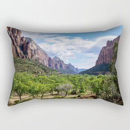 Valley cliffs 4 Rectangular Pillow