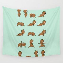 Yoga Bear Wall Tapestry