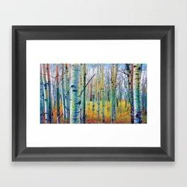 Aspen Trees in the Fall Framed Art Print