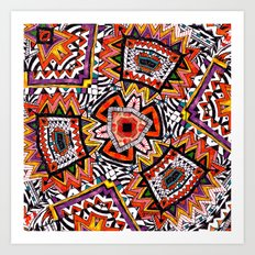 Tribal Abstract Art Print