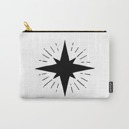 Black North Star Shining Carry-All Pouch