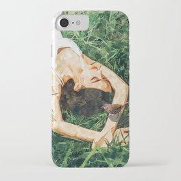 Jungle Vacay #painting #portrait iPhone Case
