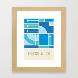 Water & Ice (Sports Surfaces Series, No. 3) Framed Art Print