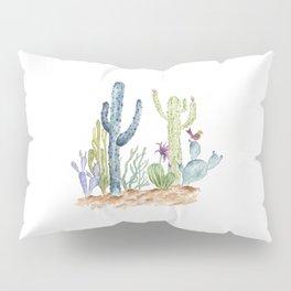 Southwst Cactus Watecolor Desert Pillow Sham