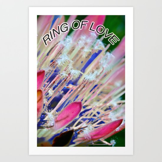 Ring of Love Art Print