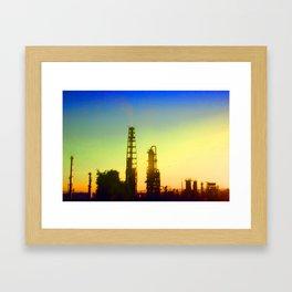 Gradient Industrial Landscape Framed Art Print