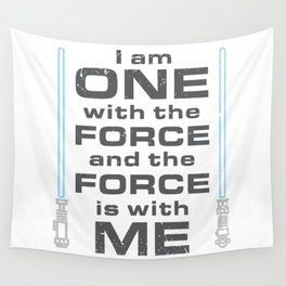 Force is with Me - Blue Wall Tapestry