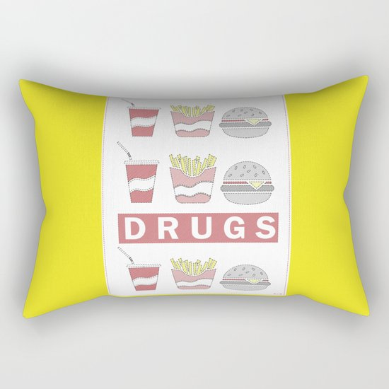 DRUGS Rectangular Pillow