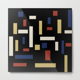 Abstract Theo van Doesburg Composition VII The Three Graces Metal Print