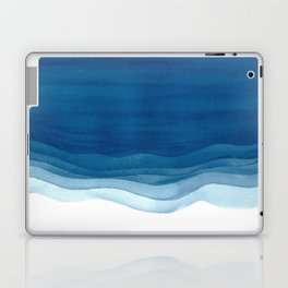 Watercolor blue waves Laptop & iPad Skin